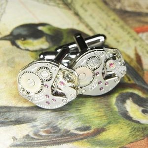 195ff96c4f21 Men's Jewelry Steampunk Watch Cufflinks Cuff Links